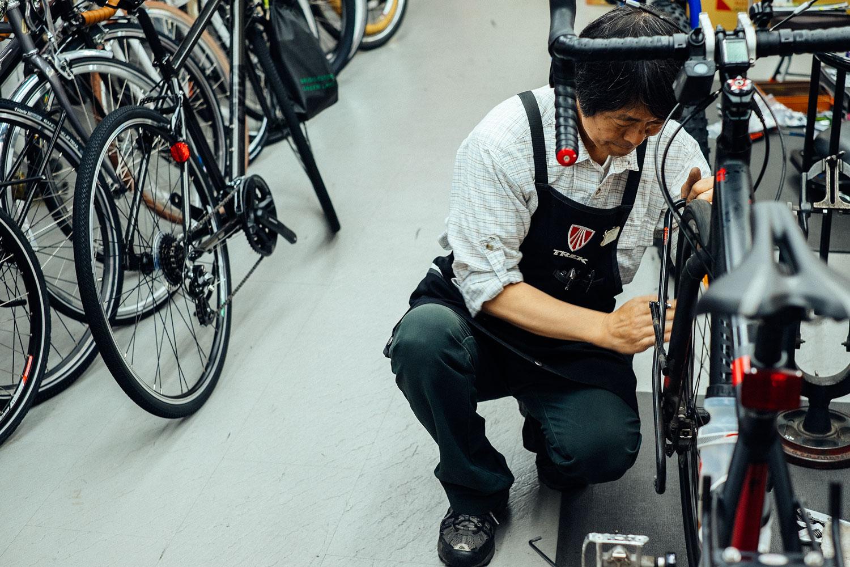 Le nostre Tricross sotto i ferri presso Ono Cycle Sapporo