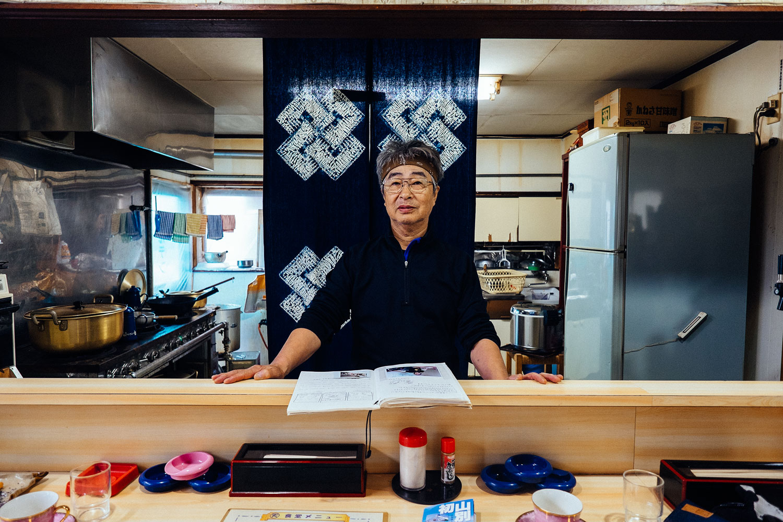 Il proprietario del ramen shop.