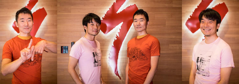 Kenta and Shuhei, with their new Babel Line Tshirts.
