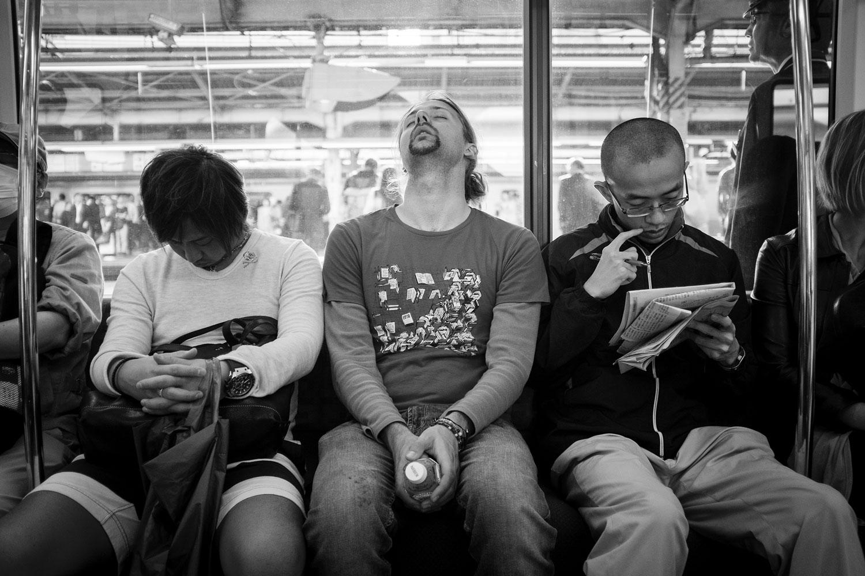 Sio crashing on a train.