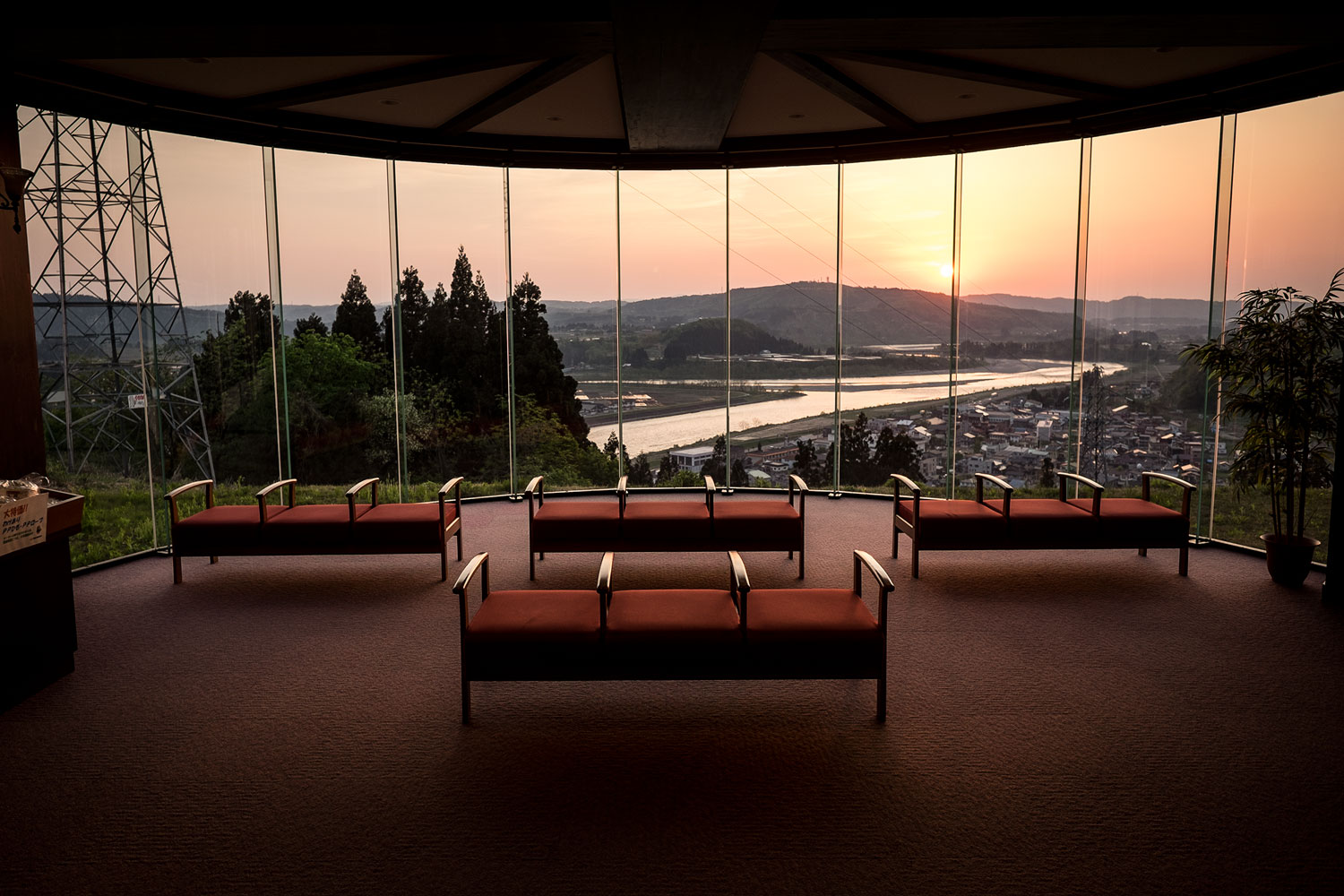 he view form the lobby of the hot springs. Pure sunset bliss!