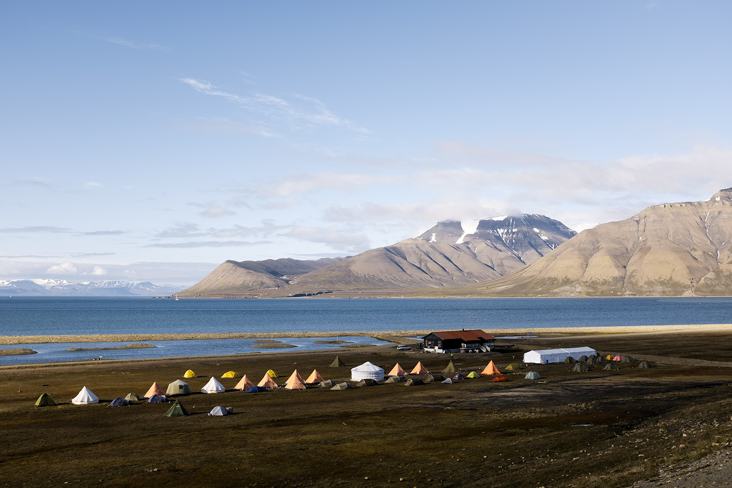 Our campsite in Longyearbyen. View from the AIRPORT.