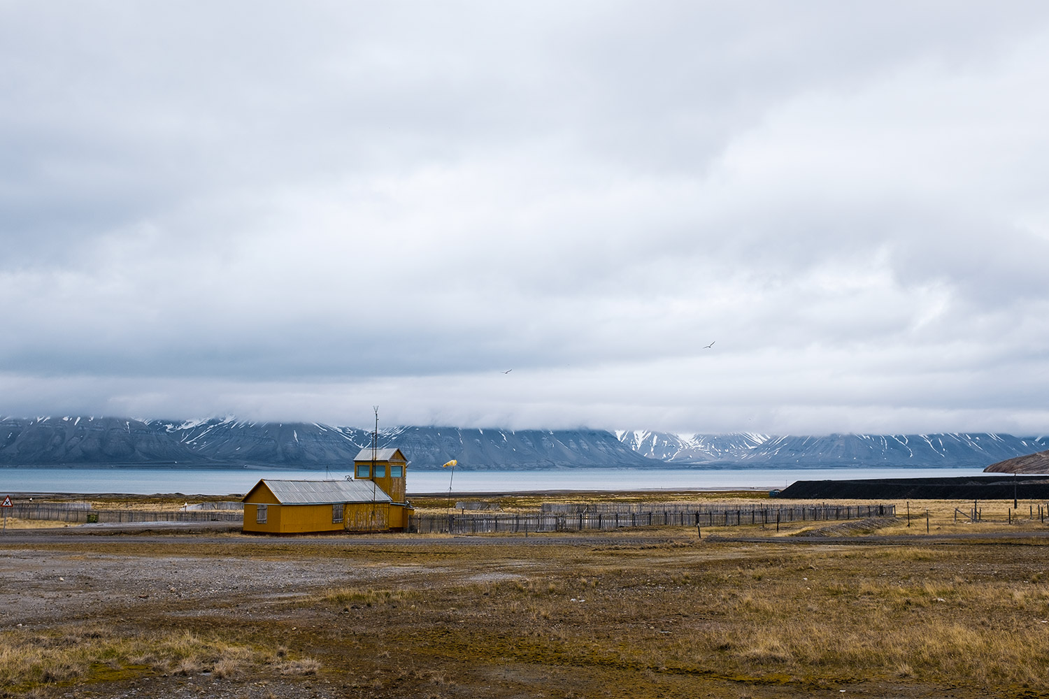 Pyramiden's abandoned airport