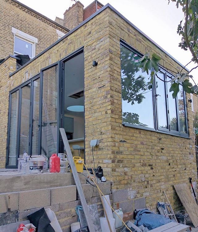 Swipe to see the progress made on this rear extension over the summer. Also, spot the circular roof light in the background. . . . #JTA #arch #architecture #residentialarchitecture #residential #construction #renovate #refurbishment #extension #london #lewisham #local #bifolding #brickwork #throwback #archdaily #design #designlovers