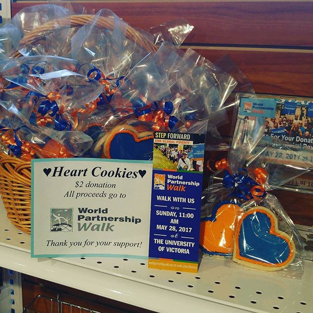 Sunday May 28th @ 11AM, help take a step forward to end global poverty #worldpartnershipwalk  Delish cookies available for a minimum $2 donation at Heart Pharmacy in the Fairfield plaza! ❤👟🏃 . . . . . #heartpharmacy #fairfieldplaza #yyj #victoriabc #vancouverisland #westcoastbestcoast #vanisle #wpw #endworldpoverty #endworldhunger