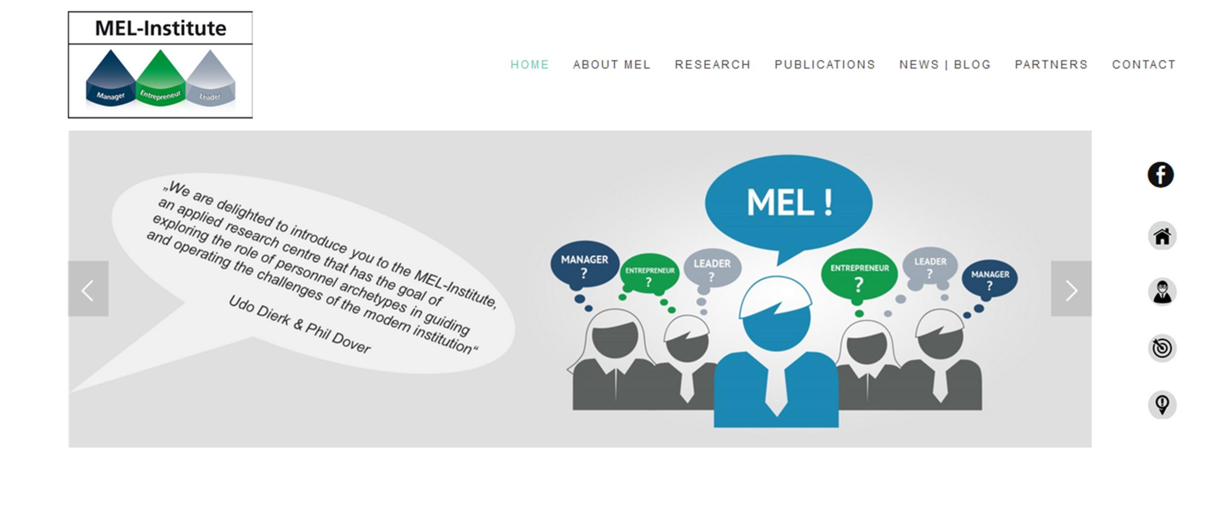 Homepage-Erstellung für MEL-Institute