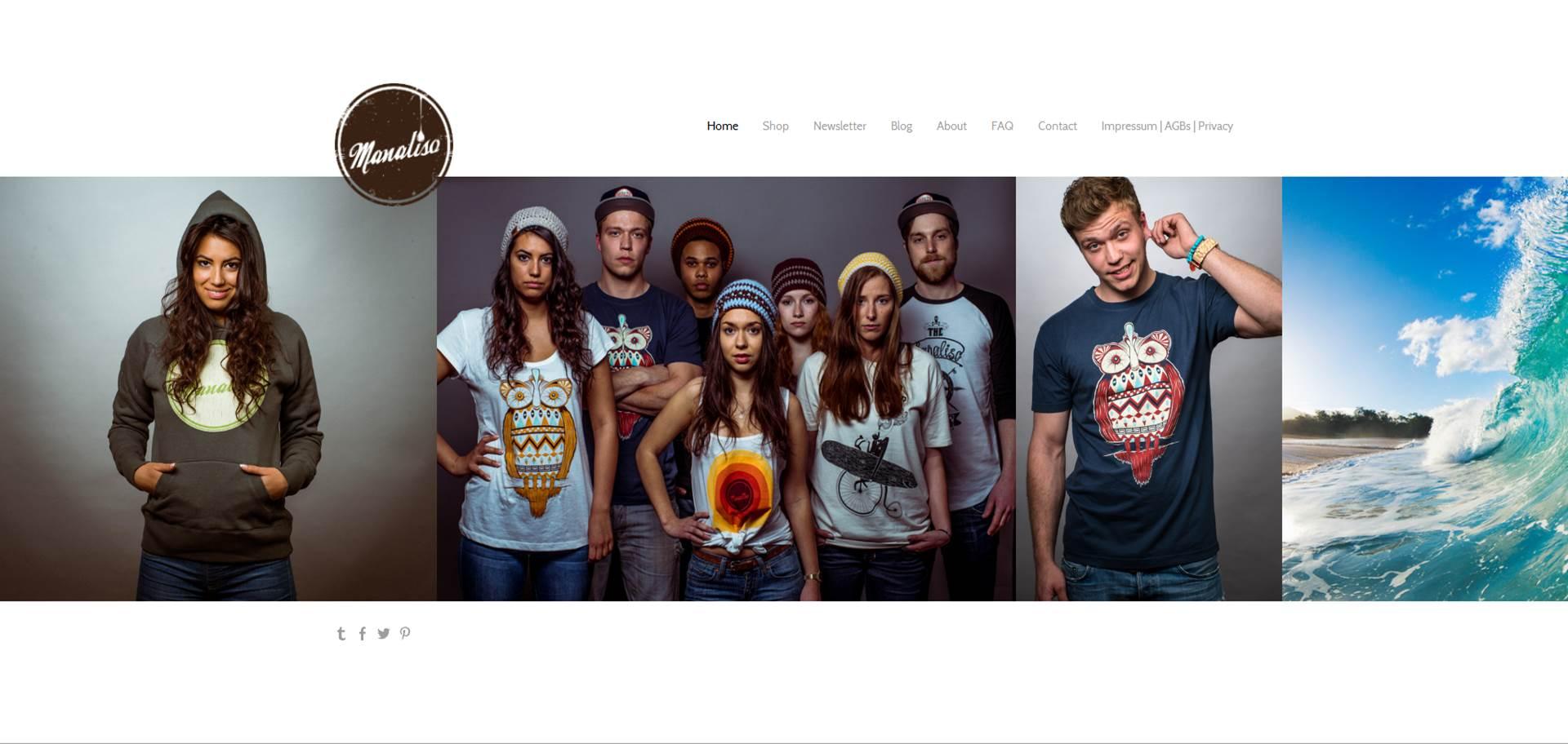 Webdesign und Erstellung Homepage inkl. Shopsystem sowie Social-Media-Marketing für das Modelabel: Manaliso