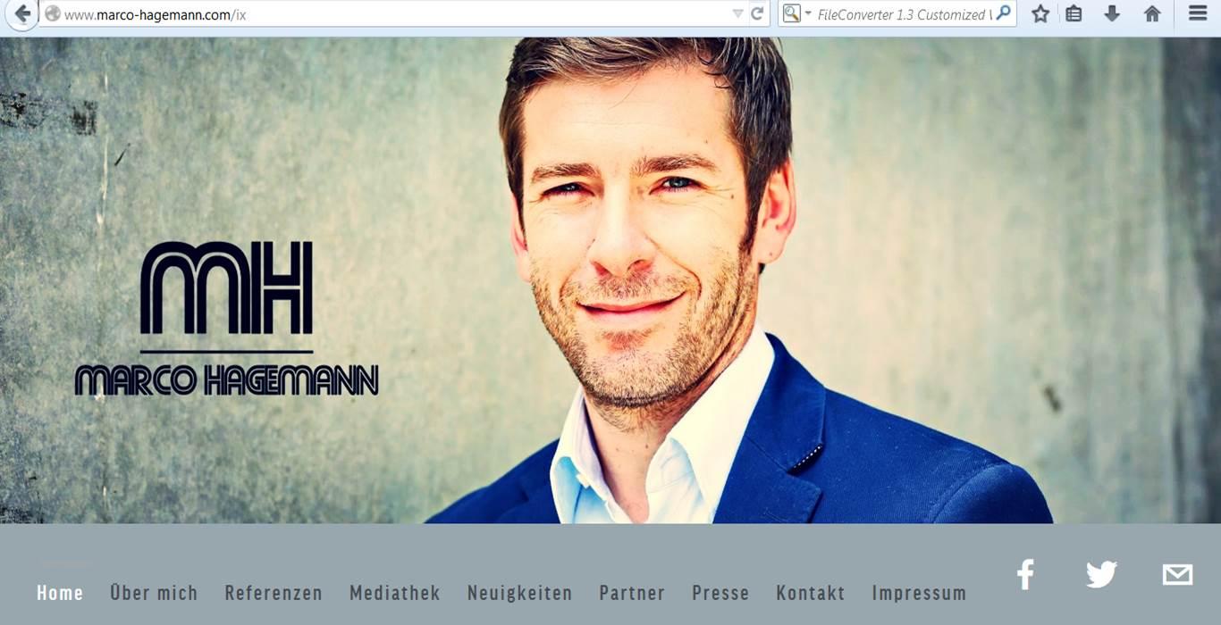 Webdesign und Erstellung der Homepage von RTL-Kommentator Marco Hagemann