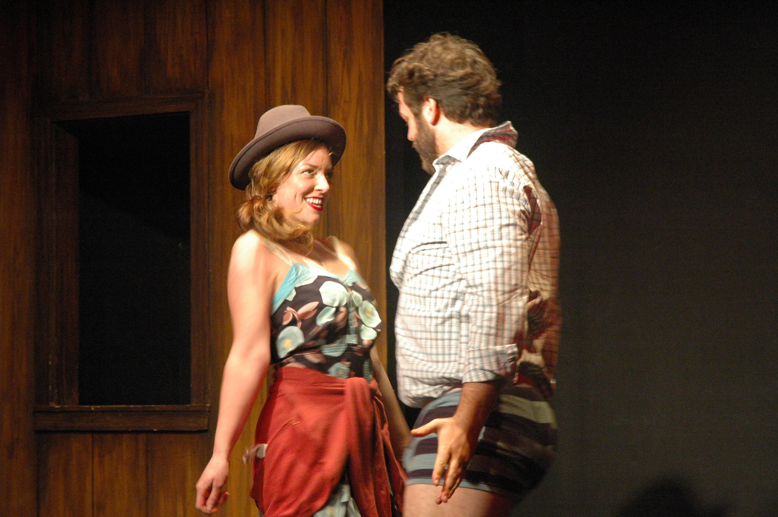 The Way He Moves  by Jonathan Goldberg. Nathaniel Kent and Kate Eastman. Magnet Theatre 2013. Photo by Megan Gray.