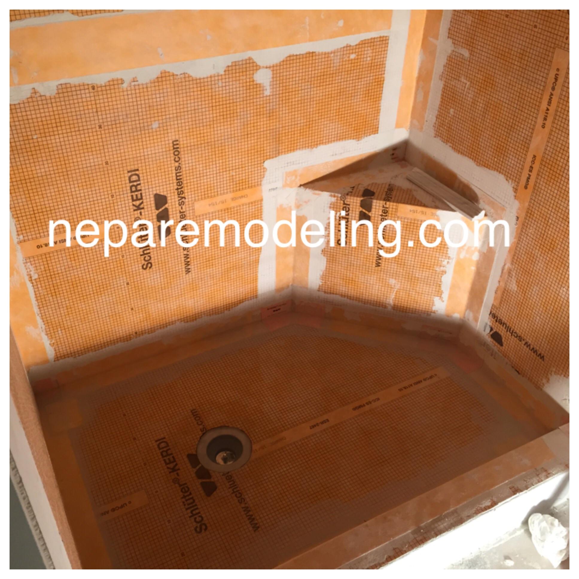 Waterproof Kerdi Shower Ready For Tile