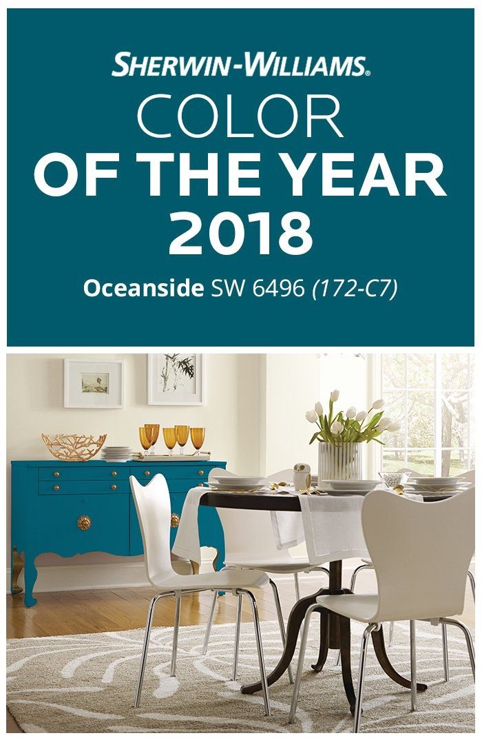 Oceanside SW6496 used on furniture to create a dynamic accent color