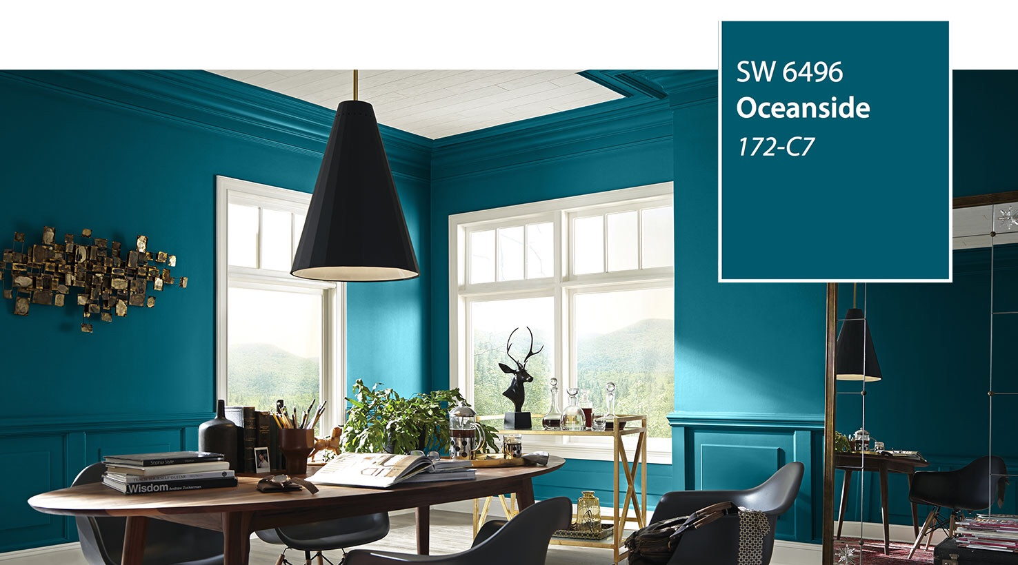 Oceanside SW 6496 wall color