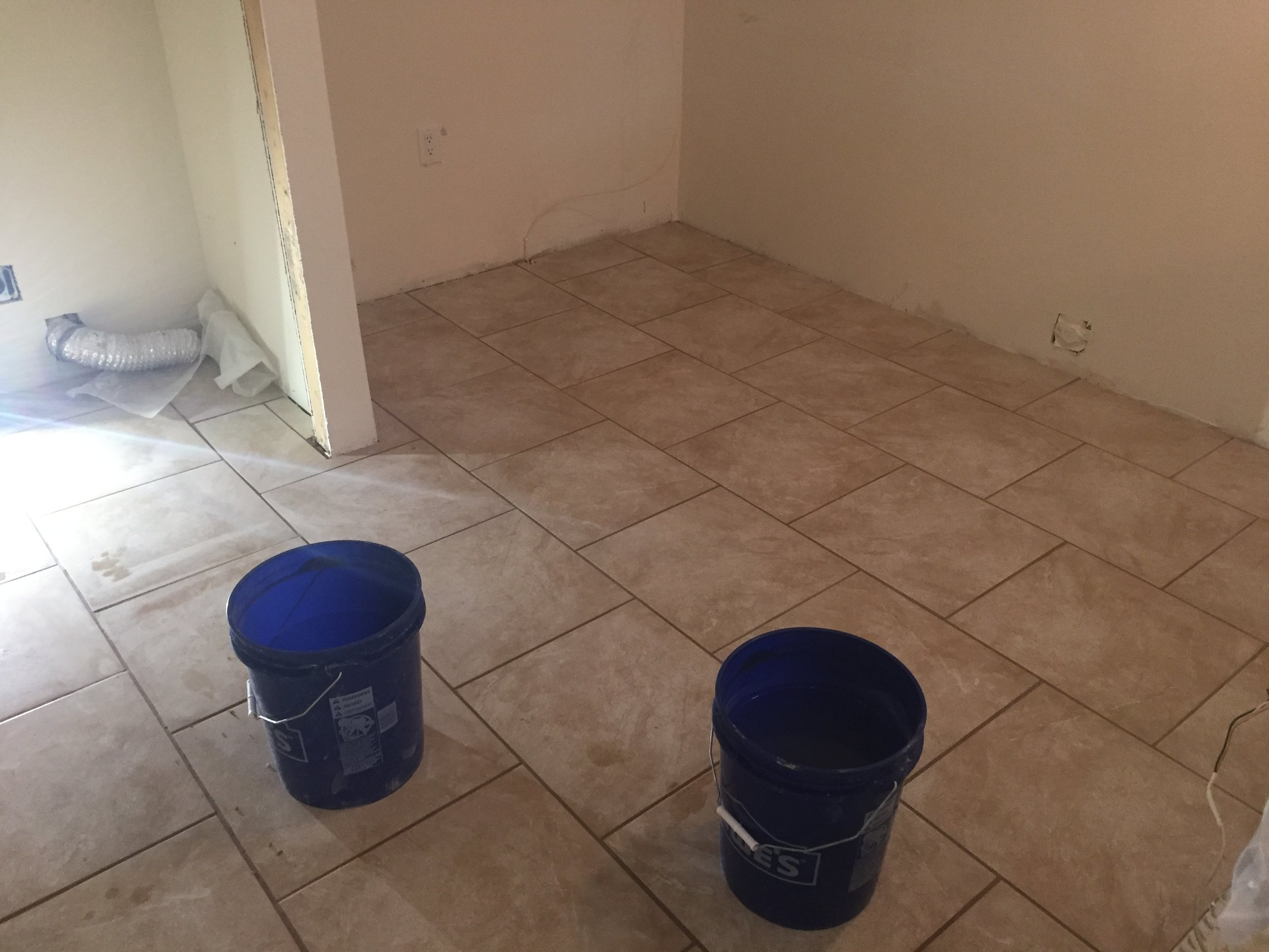 Tile and grout installed during a Clarks Summit kitchen remodel
