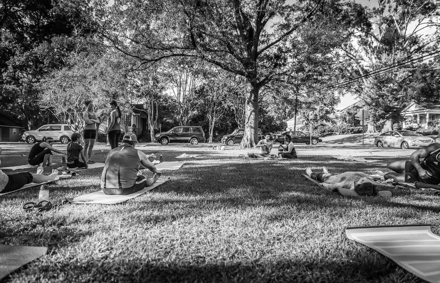 "Yoga in Cloverdale-Idlewild's ""Bottom"" Park"