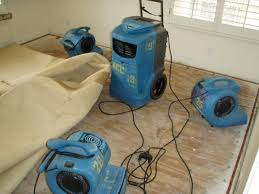 Often, after pad is removed, carpet, walls and subfloor can be properly dried and cleaned