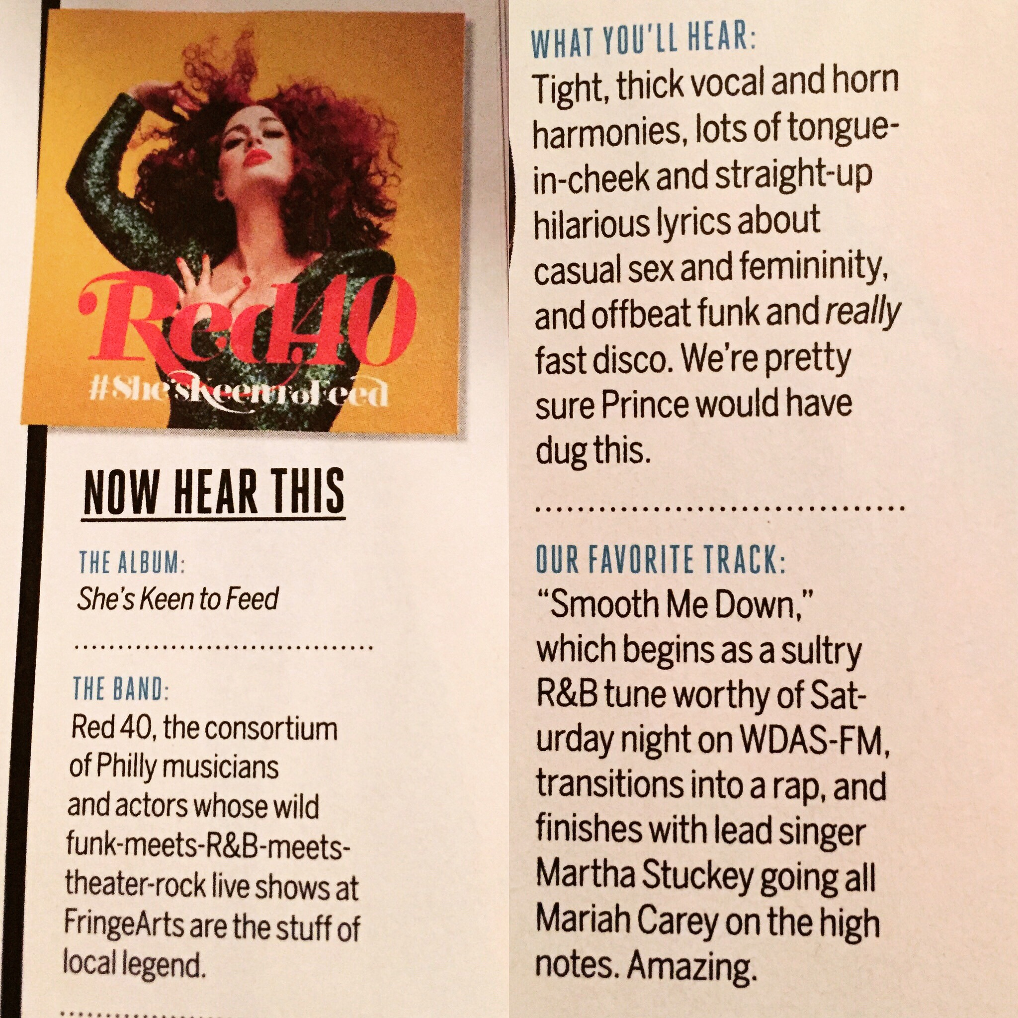 Philadelphia Magazine loves SHE'S KEENTO FEED -