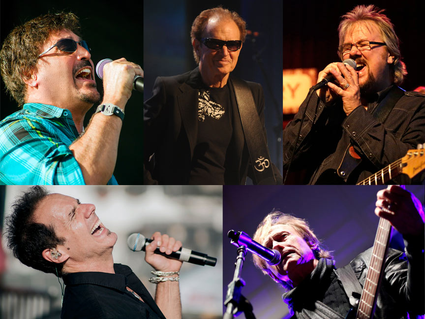 Clockwise from Top Left - John Elefante, Gary Wright, David Pack, Richard Page, Kelly Keagy