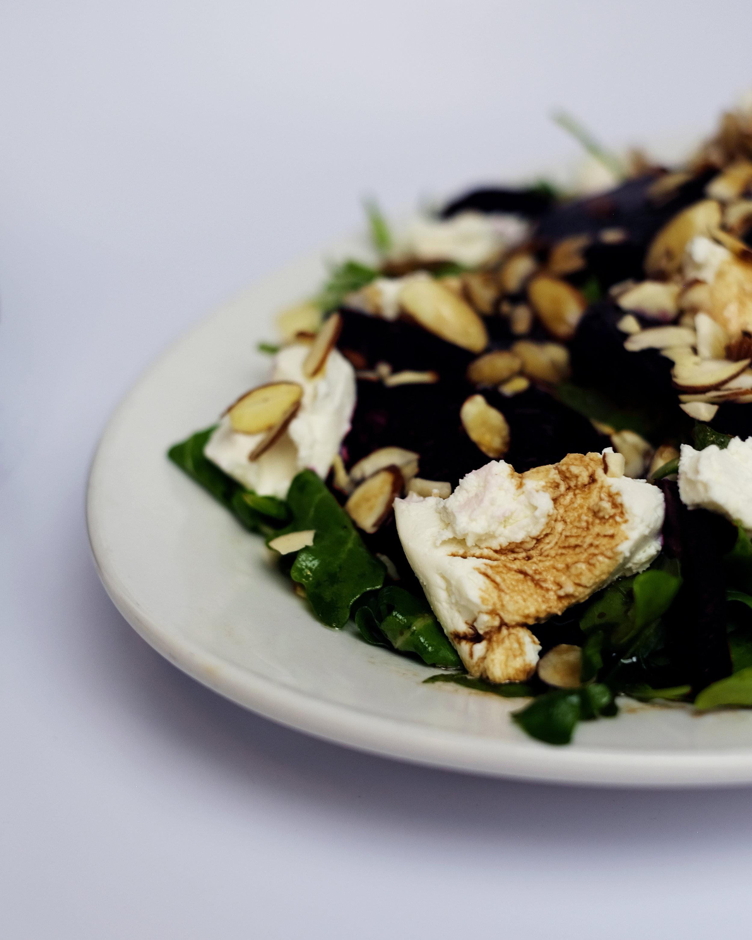 beet salad side plate