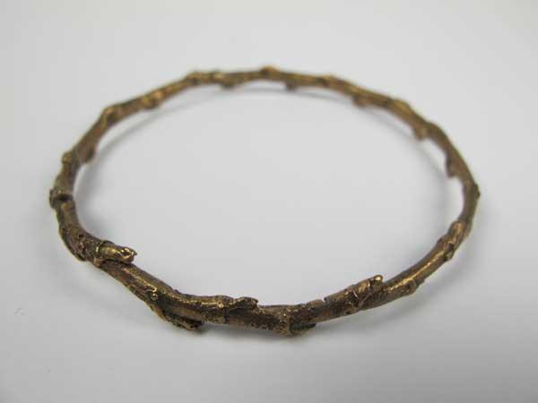 Nic Bladen-Ivy twig bangle (bronze).jpg