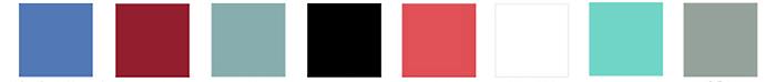 Agapanthus         Red          Ice Blue         Black       Bright Orange      White          Capri         Sea Foam