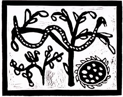 Matia-Snake-Hunting-Eggs,-Linocut,-350x320,-Ndapewa-Namapula.jpg