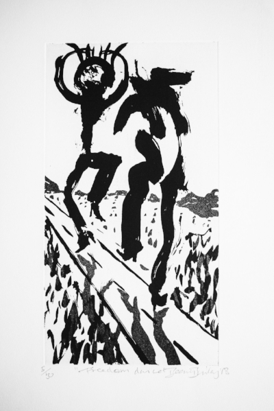 Freedom Dance,  Ed. of 30, Copperplate etching, 50 x 33 cm