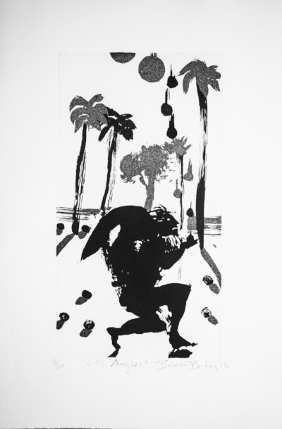 Los Angles,  Ed. of 30, Copperplate etching, 50 x 33 cm