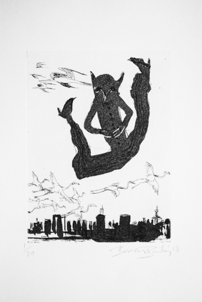 Untitled, Ed. of 30, Copperplate etching, 50 x 33 cm