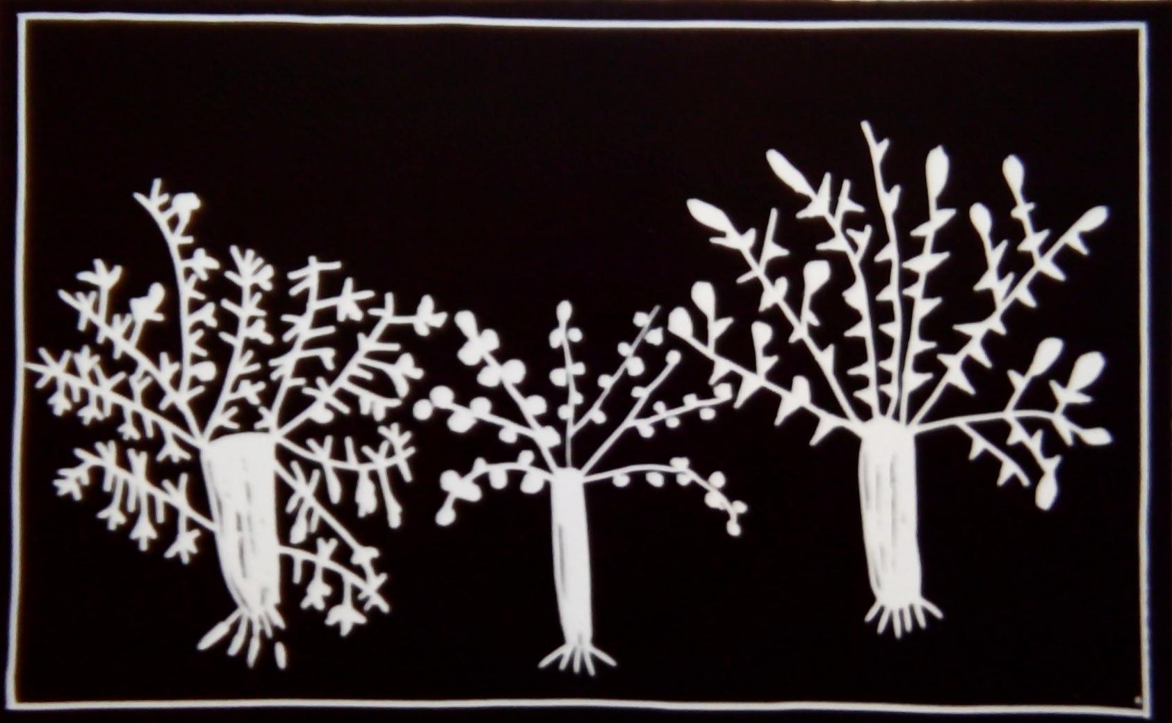 Trees , linocut, 610x418