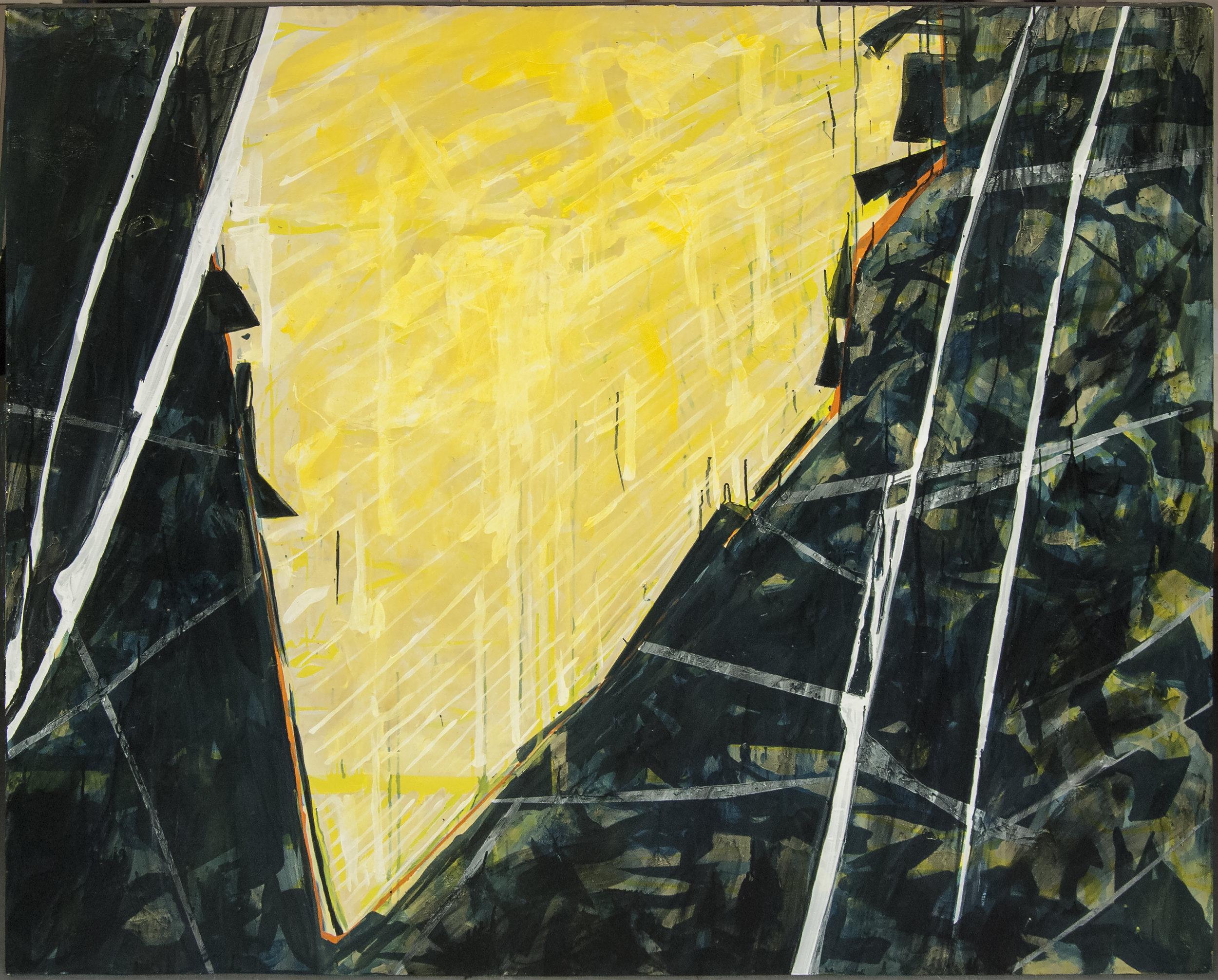 Pendent 3, Acrylic, 2015, (unique work), 200 x 161 cm