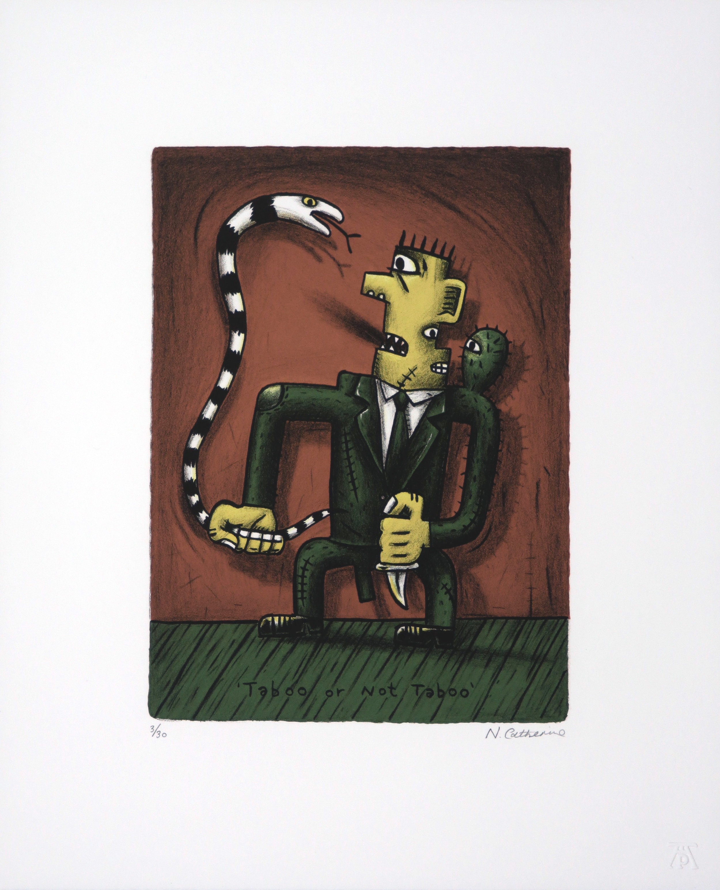 Norman Catherine, Taboo or Not Taboo, Lithograph, 300x375.jpg