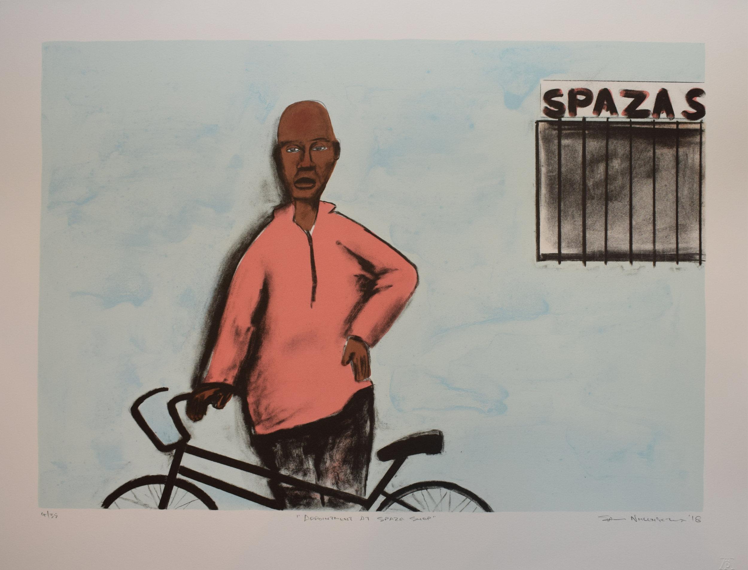 Sam Nhlengethwa - Appointment at Spaza Shop - 4of35 - 500x648.JPG