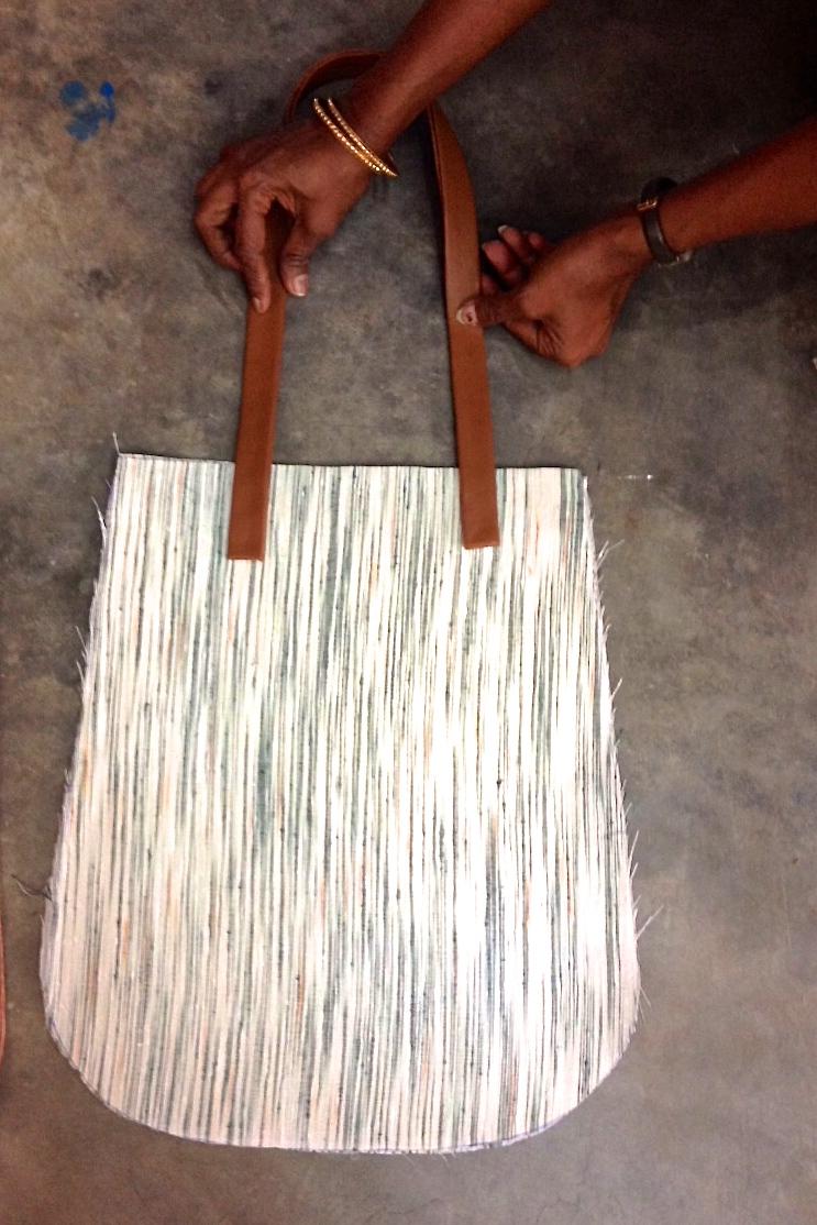 Working on Khadi bags
