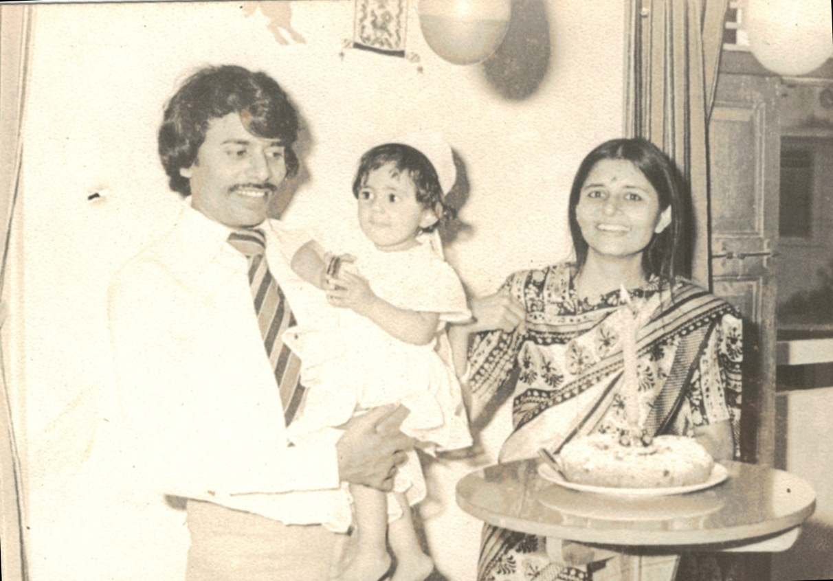 My First Birthday. With Mom and Dad