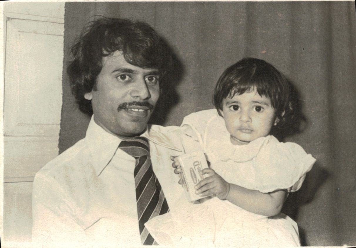 My First Birthday. With Papa.