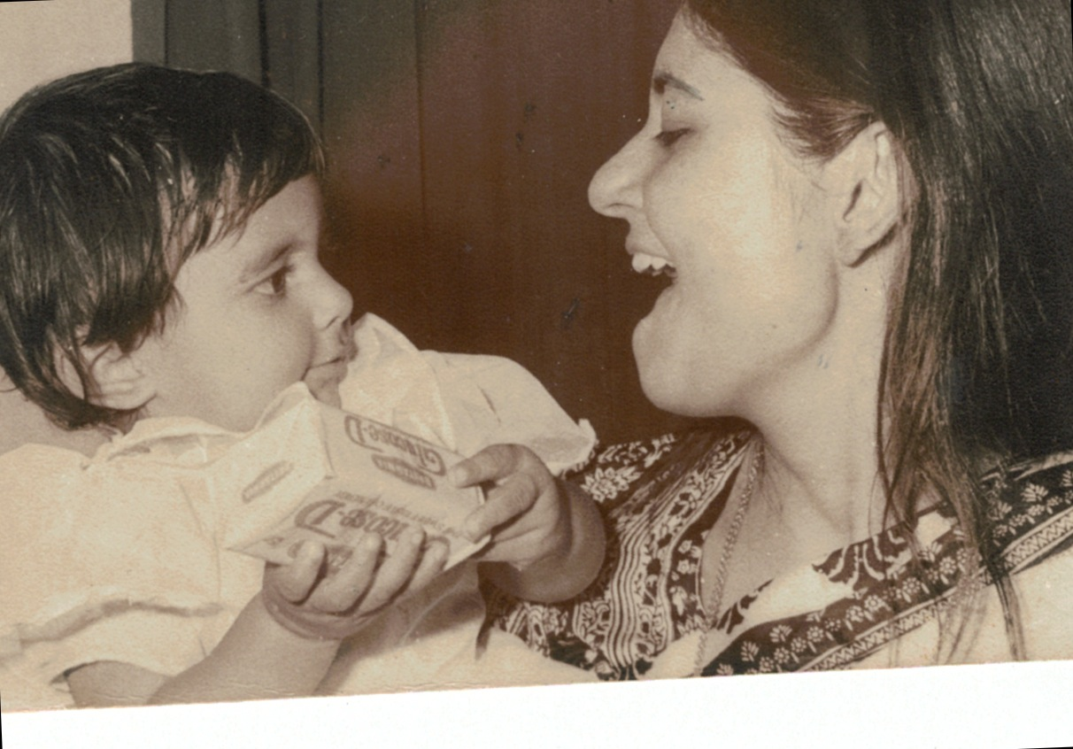 My First Birthday. With mom