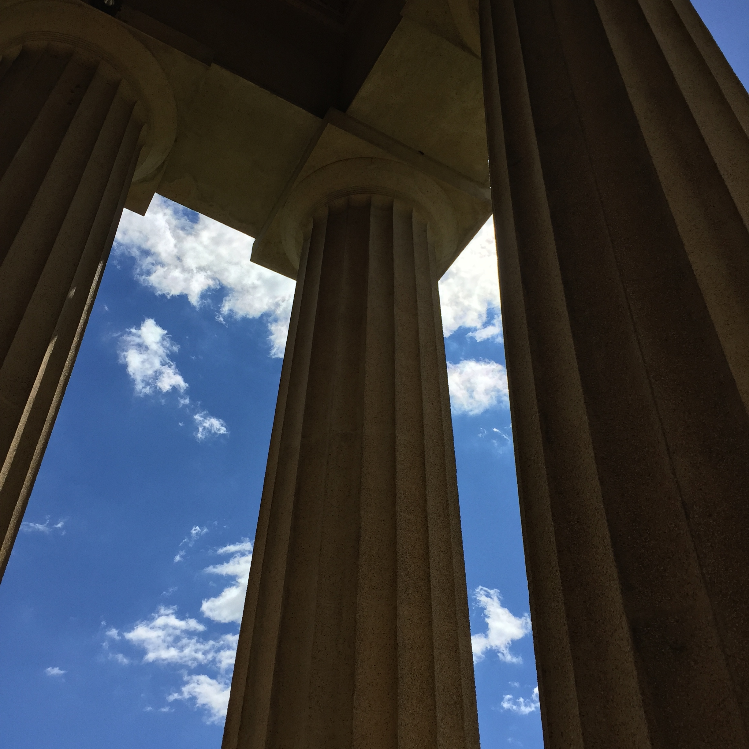 Fall Skies at the Nashville Parthenon