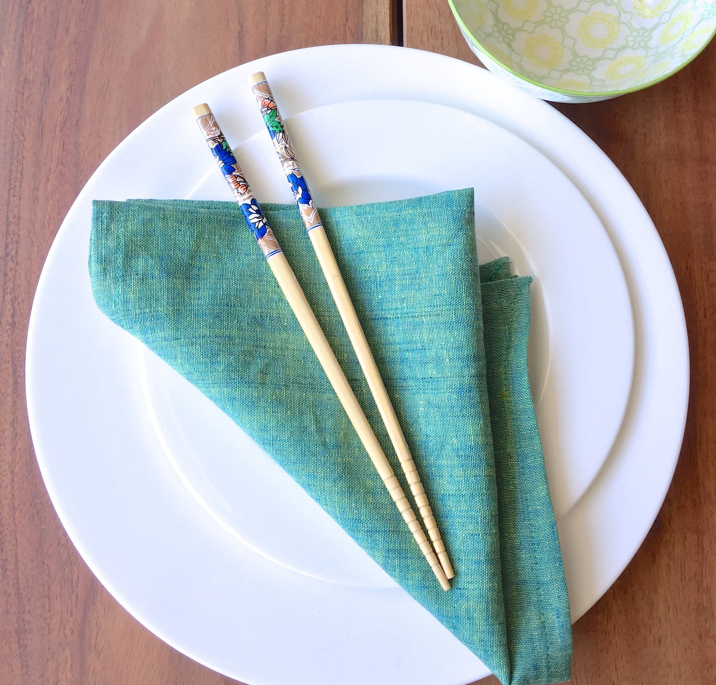 Spring Green Napkin by Shivam Creations