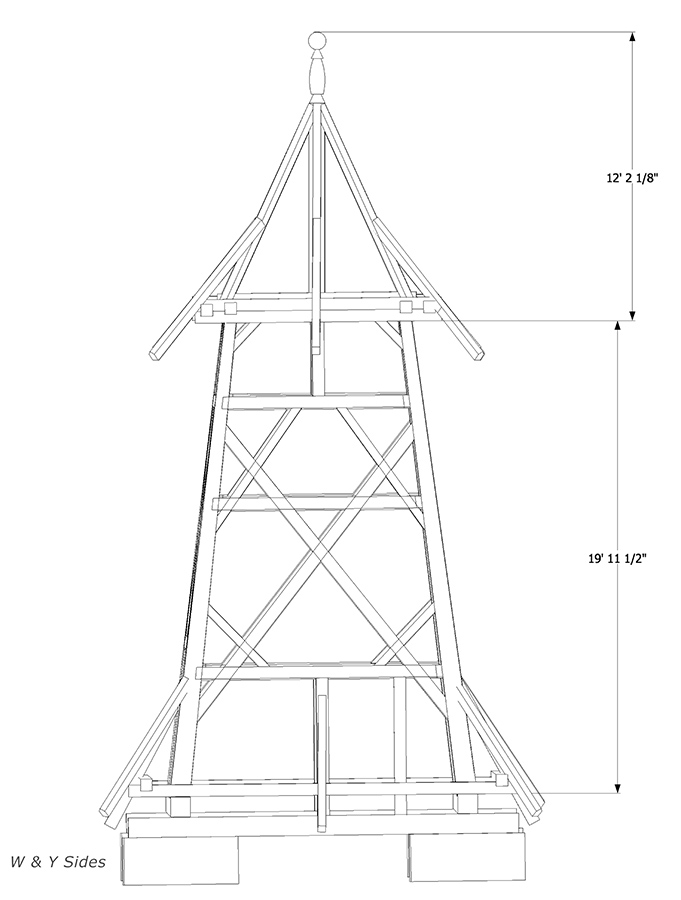 Drawing of Bell Tower structure