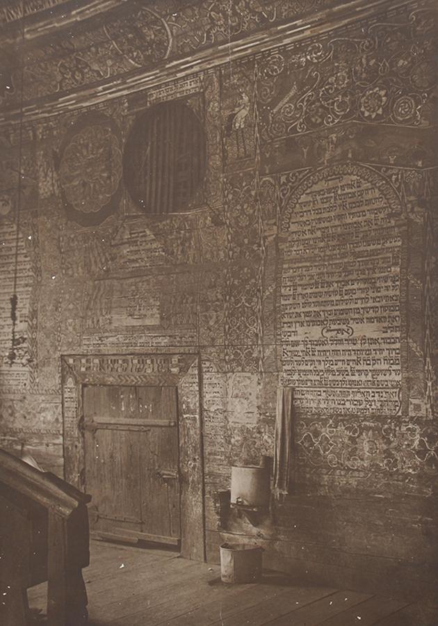 West wall and door.