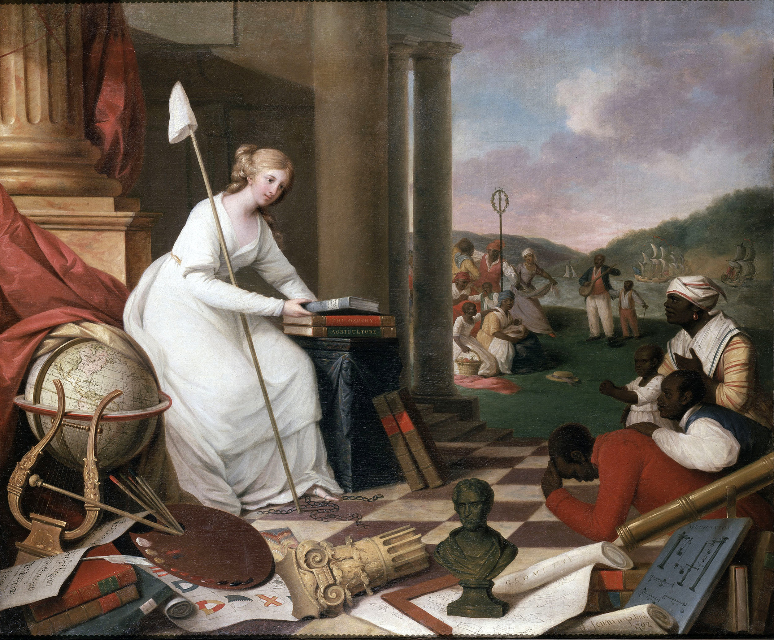 Liberty Displaying the Arts and Sciences (1792) is an oil-on-canvas painting by American artist Samuel Jennings. The Library Company of Philadelphia