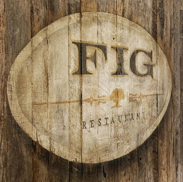 Aging Gracefully with @tmac69000 @figsantamonica ... @fairmontmiramar  Overseeing just the right amount of signage aging at FIG Restaurant... an incredible & multi-layered process - #nightshift - #sensorial #touchpoints  #signwriting #textures #artist #aginggracefully #onlyatthemiramar
