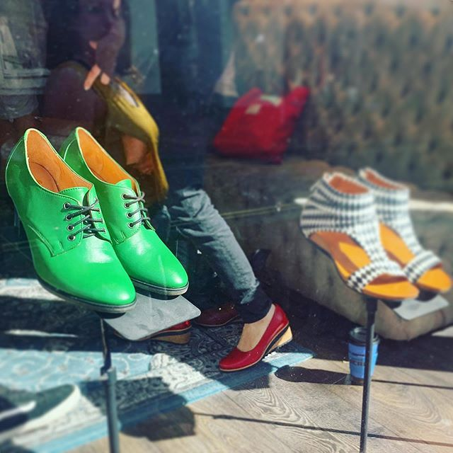 Ones and Twos - #windowshopping #greenshoes  #brighton