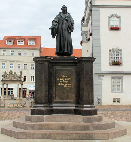 A statue of Martin Luther in Wittenberg.