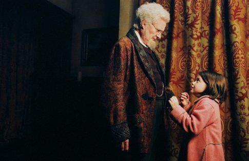"""Professor Kirke, formerly known as """"Digory"""" with Lucy Pevensie"""