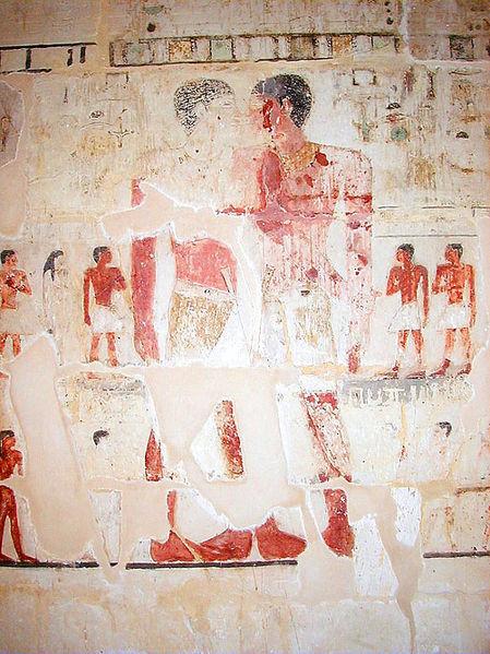 Mastaba of Niankhkhum and Khnumhotep embrace