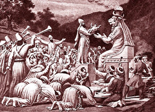 Baal (or Moloch/Molech or Chemosh) worship in action.