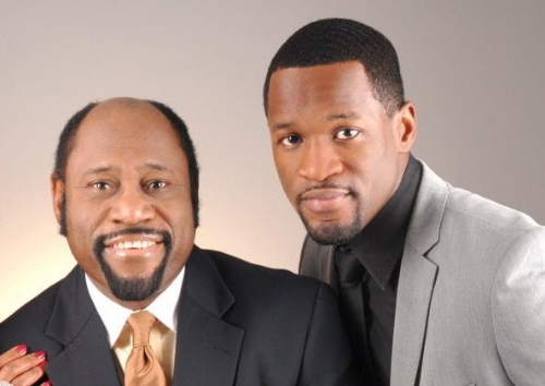 Dr. Myles Munroe and his only son, Chairo (Myles Jr.).