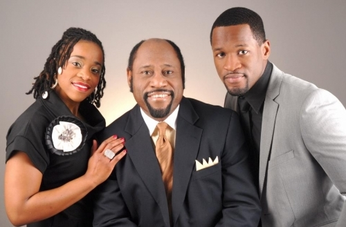 Dr. Myles and his only daughter, Charisa, and his son, Chairo.