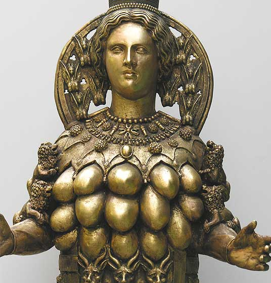 Here is a rendering of the Queen of Heaven in a mockery of God Almighty, El Shaddai, the Many-Breasted One.
